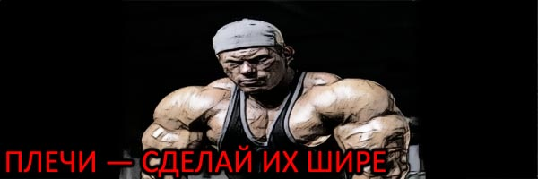 Широкие плечи и расширение костяка