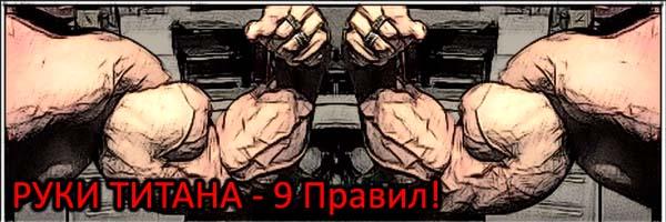 Руки титана. 9 правил роста мышечной массы рук