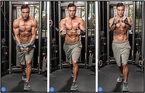 упражнение для тренировки грудных
